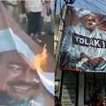 Tak Mempan Dibakar Pendemo, Poster Rizieq Shihab Kini Justru Terpampang di Tepi Jalan