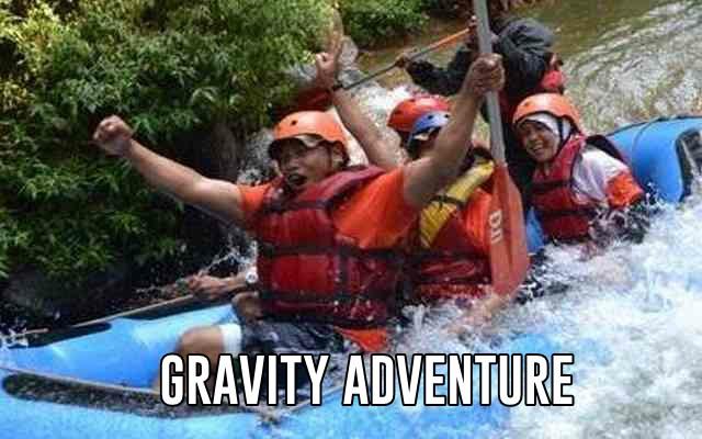 rafting di sungai palayangan bandung gravity