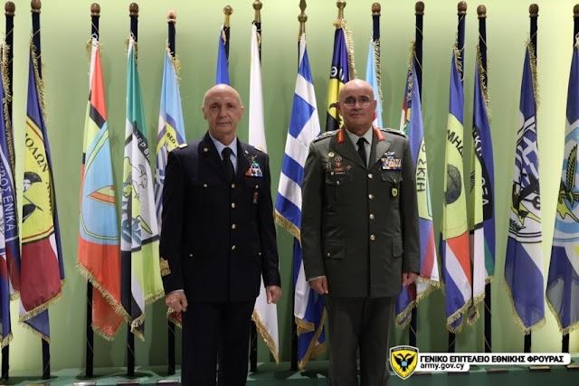 Κύπρος: Επίσκεψη Αρχηγού ΕΔ της Ιταλίας στο ΓΕΕΦ (ΦΩΤΟ)
