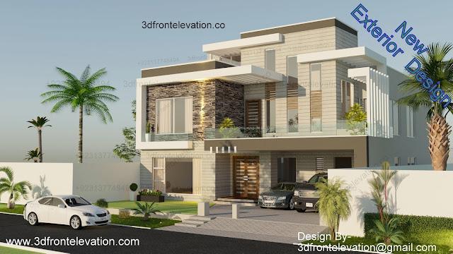1 kanal Modern House Exterior Design
