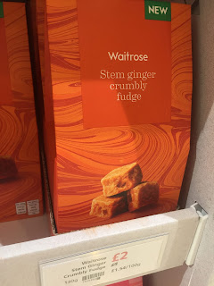 waitrose Stem Ginger Fudge