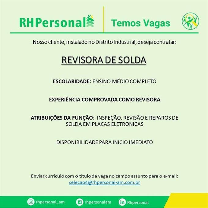 REVISORA DE SOLDA