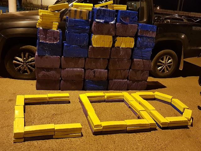 Luziânia: Uma tonelada de maconha é apreendida