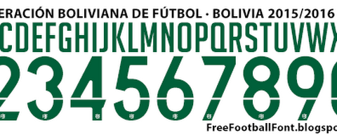 Bolivia National 2015-2016 Font