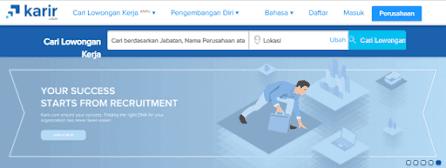 Situs lowongan kerja karir.com