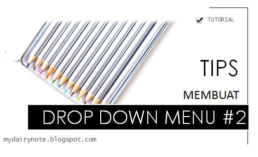 tips membuat drop down menu
