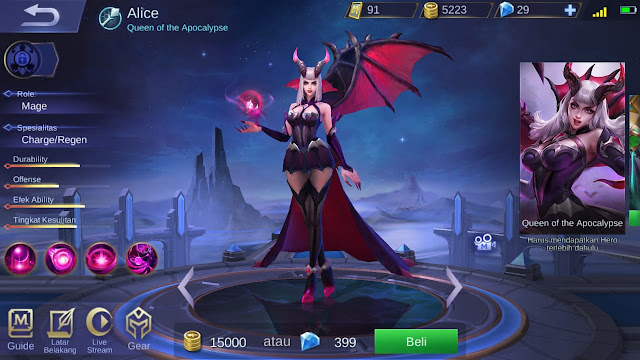 Mage Terkuat di Mobile Legends Season 11 Alice