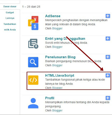 Cara Pasang Widget Google+ Badge di Blog