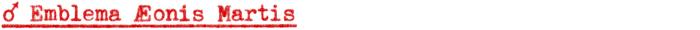 Emblema Æonis Martis