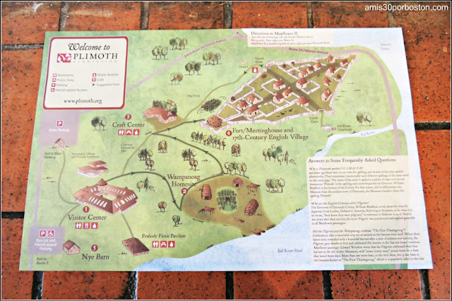 Mapa de la Plimoth Plantation: Henry Hornblower II Vistor Center