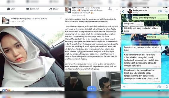 Kes Lelaki Rakam Wanita Dalam Tandas Petronas, Pekerja Petronas BONGKAR Sendiri Apa Yg Berlaku ! TERBONGKAR Semua Penipuan