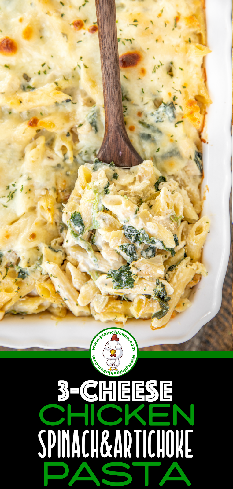 spoonful of chicken & spinach pasta