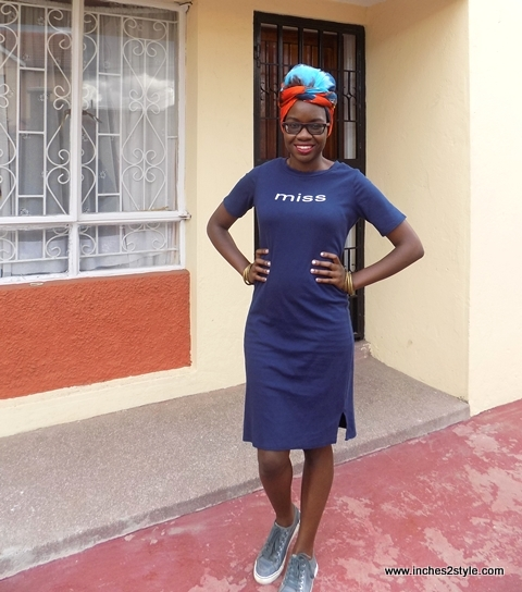 t-shirt dress sneakers turban audrey masitsa 1