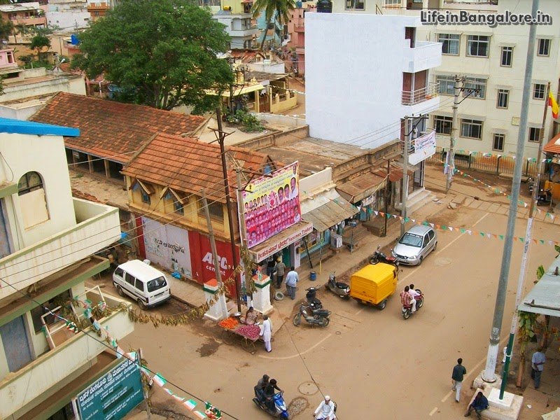 Yelahanka BBMP office circle inside Town