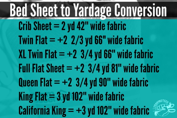 How many yards of fabric can you get from a bed sheet for Where can you get fabric