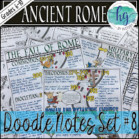 Image of Product Thumbnail for Fall of Rome Doodle Notes by History Gal