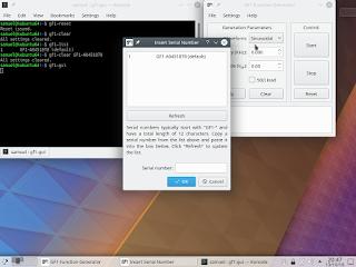 Novo software em funcionamento. Os comandos podem ser invocados especificando o número de série do dispositivo alvo.