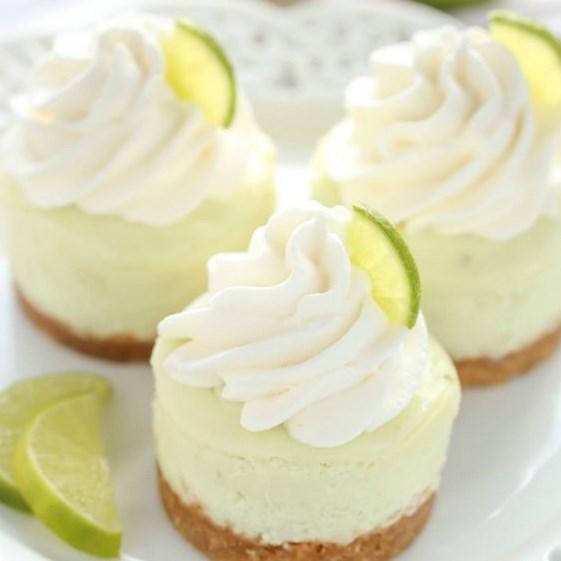 MINI KEY LIME CHEESECAKES #Desserts #cakes