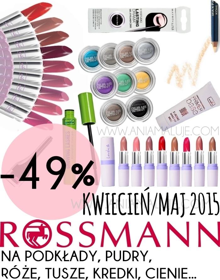 -49% na kolorówkę rossman  co warto kupić na promocji -49% w rossmanie
