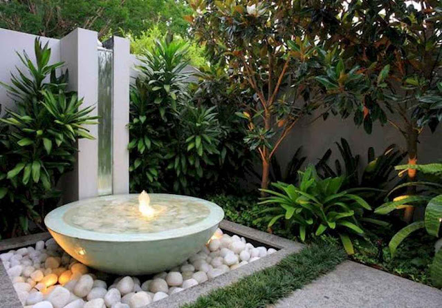 Fresh water feature for front yard and backyard landscaping