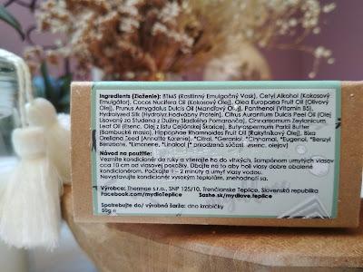 Mydlove Tuhý kondicionér Pomaranč-Škorica zloženie