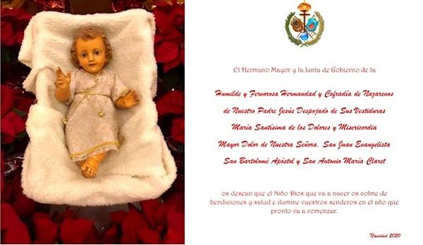 Felicitación Navidad Hermandad del Despojado de Sevilla