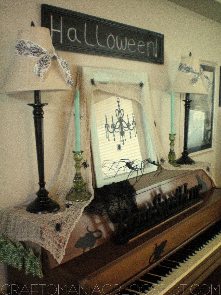 Halloween Decor  Creepy Crawly Piano    Craft O Maniac Halloween Decor  Creepy Crawly Piano