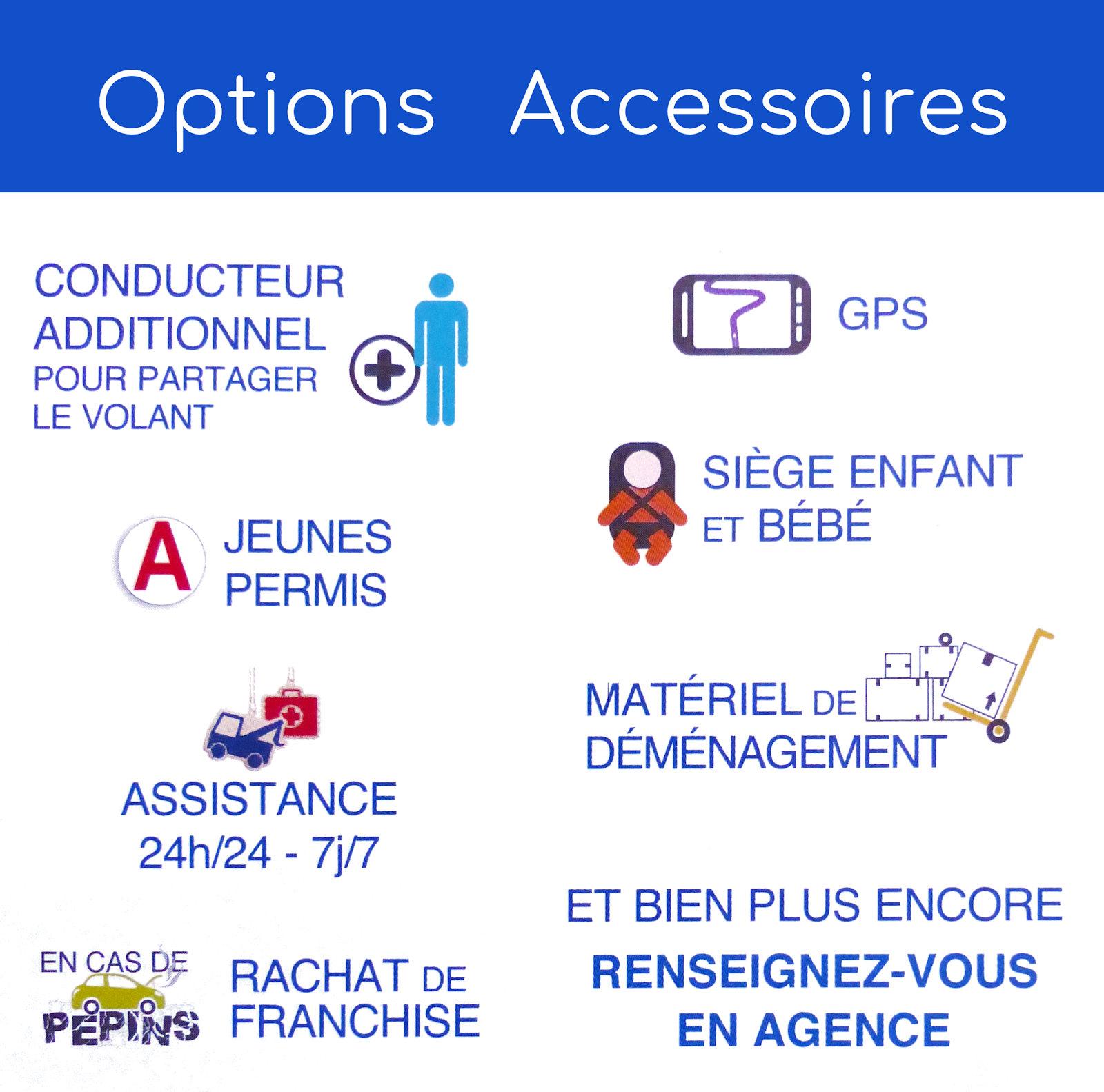 Options Accessoires Rent a Car - Place de la Victoire, Tourcoing.