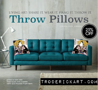 25% off throw pillows by Tom Roderick Art