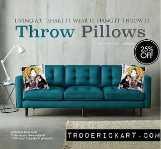 25% off throw pillows by Tom Roderick Art