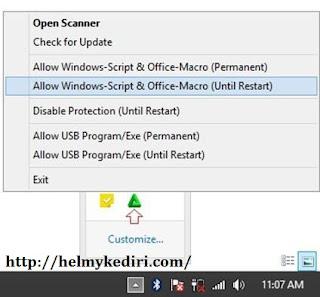 Ijinkan akses windows script hosts