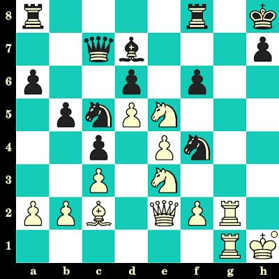 Les Blancs jouent et matent en 2 coups - Arthur Bisguier vs J. Penrose, Southsea, 1950