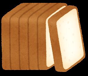 6枚に切られた食パンのイラスト