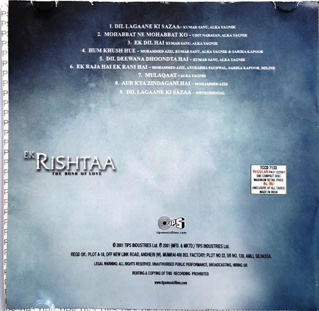 Download Ek Rishtaa [2001-Mp3-VBR-320Kbps] Review