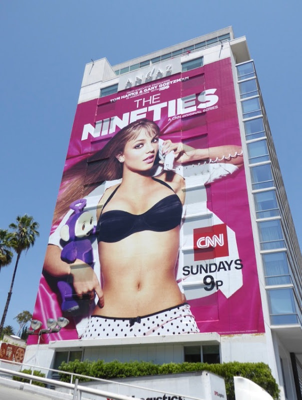 Britney Spears Nineties CNN series billboard