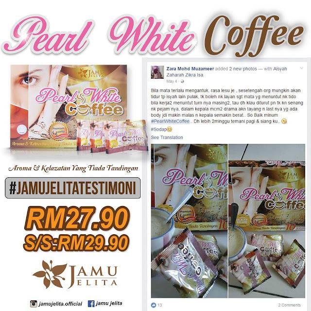 Testimoni Pearl White Coffee Jamu Jelita