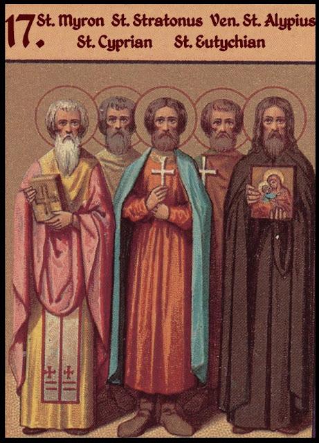 Των Αγίων Μύρωνος, Στράτωνος, Φιλίππου, Ευτυχιανού