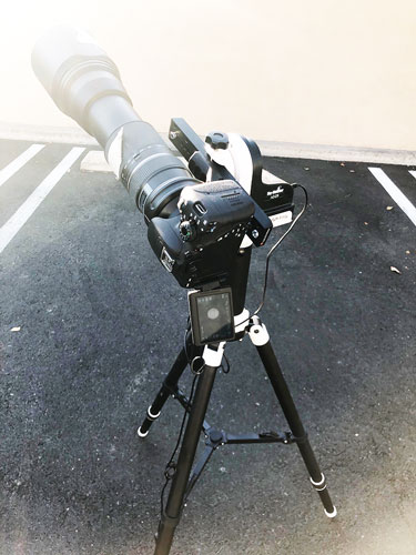 Practice run for transit of mercury with Sky-Watcher mount and 600mm DSLR (Source: Palmia Observatory)