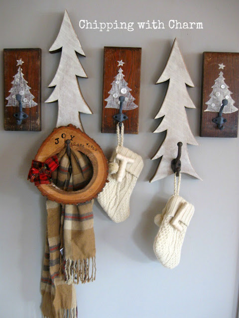 Chipping with Charm: Tree Hooks using Old Sign Stencils...www.chippingwithcharm.blogspot.com