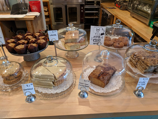Pastries and cakes at Zeke's a Pittsburgh Coffee Roaster near Bakery Square