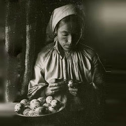 pysanky women painting egg early photograph