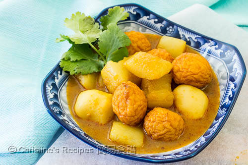 椰汁咖哩魚蛋 Curry Fish Balls with Radish03