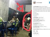 Gara-Gara Takut Razia, Beginilah Gaya Pengendara Motor saat Makan Bareng Polisi di Warung Makan