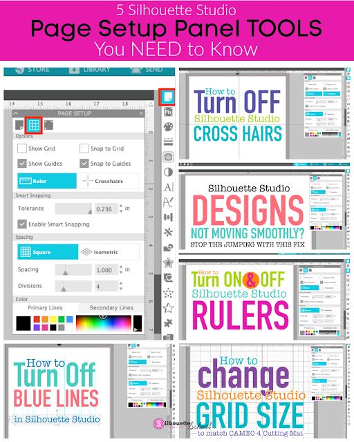 smart snaps, page setup panel, silhouette studio, silhouette studio v4, page setup tools