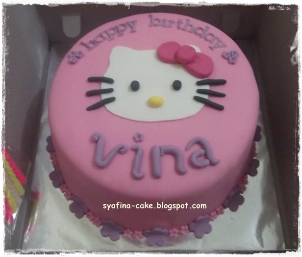 Hello Kitty For Mba Vina Syafina Cake