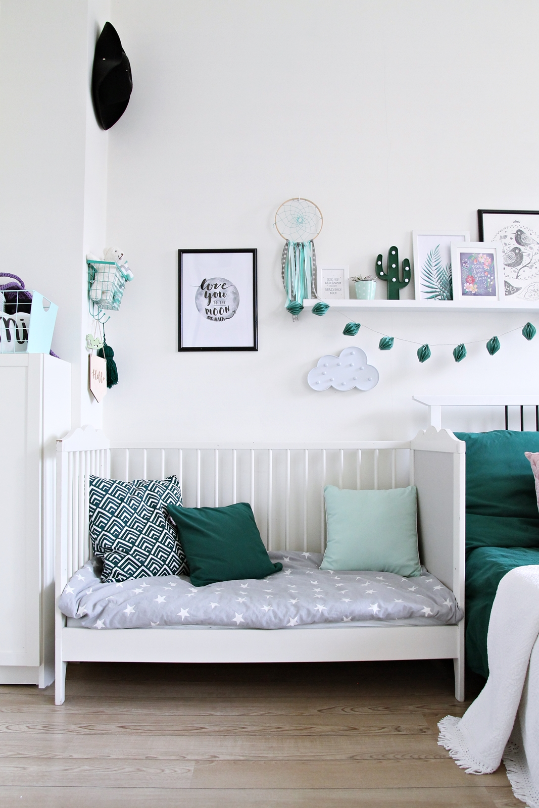 Nursery in bedroom