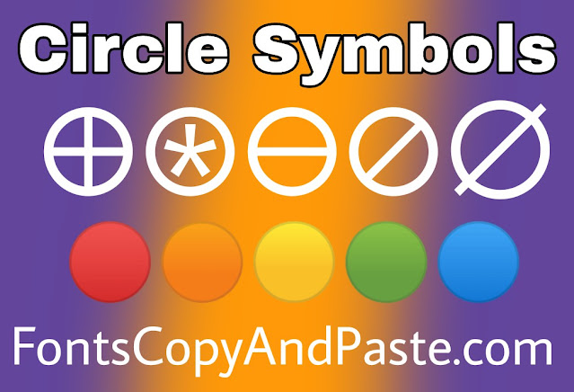 Circle Symbols to Copy And Paste