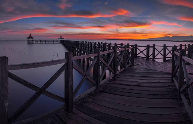 sunset di pantai bentar probolinggo