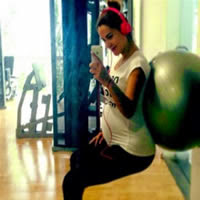 Ninel Conde is still working out