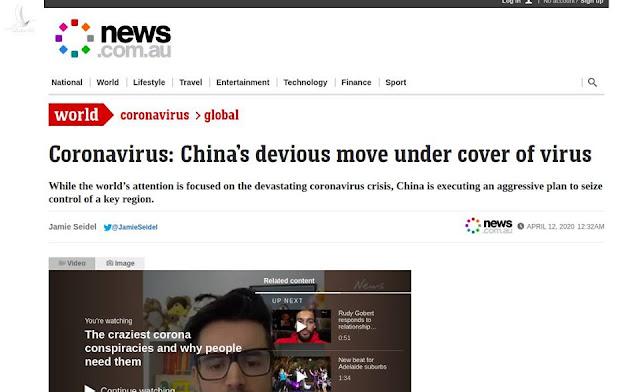 """Truyền thông Quốc tế nhận định """"Trung Quốc cố tình lợi dụng Covid-19 để chiếm Biển Đông"""""""